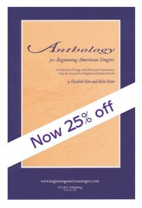 Anthology for Beginning American Singers - Now 25% Off